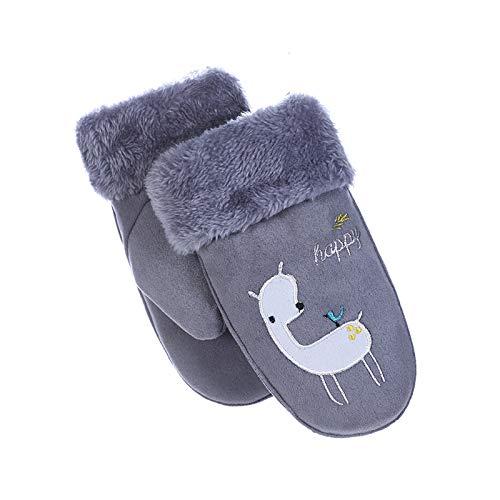 Gnzoe Gloves - Children Gloves Warm Golves Winter Warm Grey - One Size