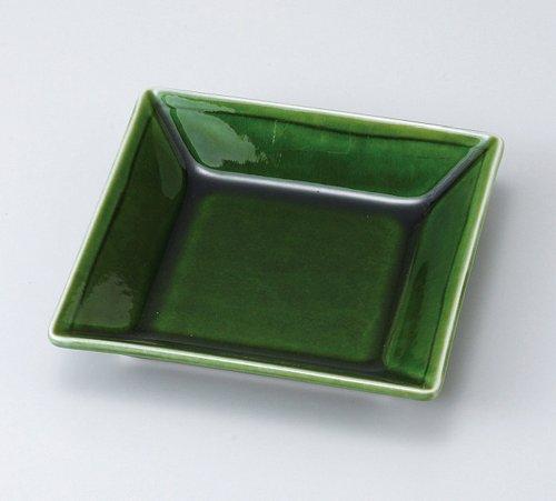 Japanese dishes Oribe square dish (large) 5 PCs set MINO-yaki Japanese plates and enjoy toy (kitchen utensils) with set by Japanese dishes