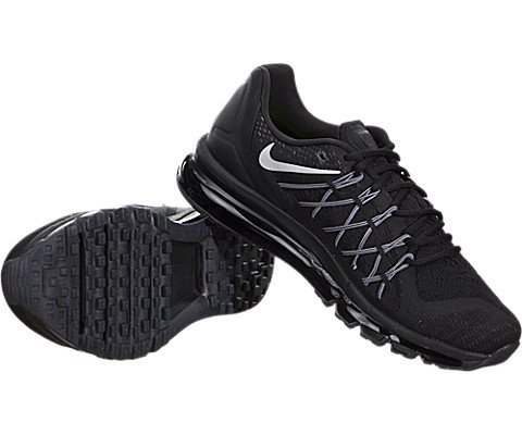 Nike Air Max 2015 Mens Running Shoes Black White 698902-001 (10.5 D ac6da6a39a19