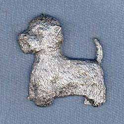 West Highland White Terrier Pewter Pin by George Harris - Harris Pewter Pin