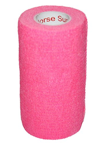 "3"" Medical Wrap Tape Bulk, Self Adherent Rap Tape, Self Adhering Stick Bandage, Self Grip Roll, Power Flex Wrap - 3 inches x 15' Feet - 6 Rolls - Neon Pink by Prairie Horse Supply (Image #9)"
