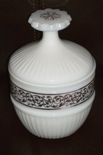 Vintage Avon Milk Glass Covered Urn Compote - Avon Glass