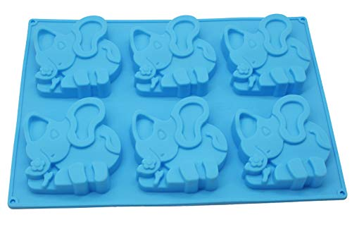 X-Haibei Baby Shower Favors Elephant Soap Silicone Mold for Homemade Chocolate Candy