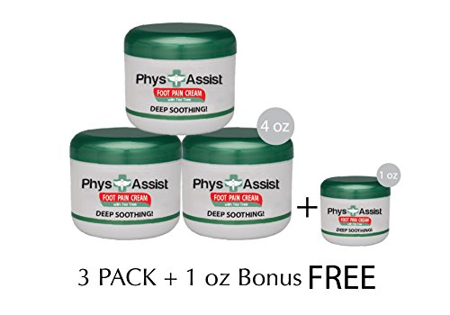 UPC 895393000337, PhysAssist Foot Pain Cream- 3 pack + 1 oz BONUS
