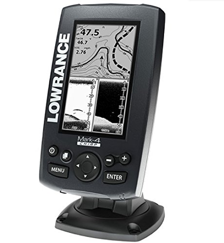 Lowrance Mark-4 Chirp 000-11823-001 Fishfinder/Chartplotter with 83/200 KHz Transom Mount (High Resolution Fishfinder)