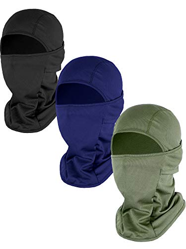 Gejoy 3 Pieces Winter Balaclava Ski Mask Motorcycle Face Cover Windproof Ski Face Mask for Winter Cycling Running Skiing Mountain Climbing Outdoor Activities