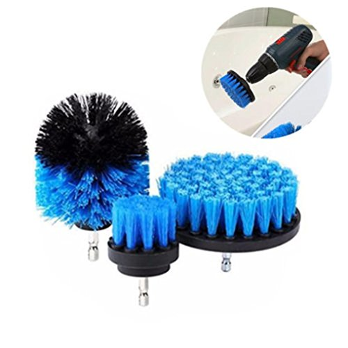 Euone Electric Drill Brush Grout Power Scrubber Cleaning Brush Tub Cleaner Tool (Blue, -