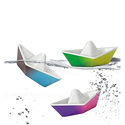 PlayMonster Kid O Color-Changing Origami Boats Bath Toy Set: Toys & Games