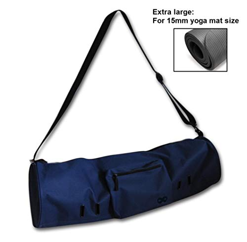YogaAddict Yoga Mat Bag (Extra Large) 'Compact' with Pocket, Fits All 15mm Yoga Mat and Jade/Manduka Mat Size, 29