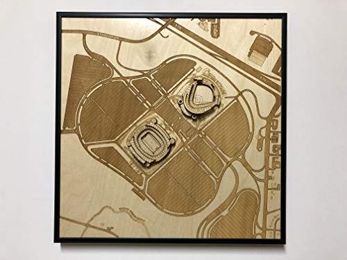 Busch Stadium Aerial - Kansas City, Missouri City Map by Stadium Map Art | Busch Stadium Poster | Kauffman Stadium 3D | Sports Decor with 3D Stadium Art