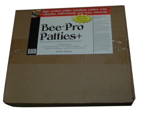 Mann Lake FD357 Bee Pro Patties with Pro Health, 10-Pound (Bee Polystyrene Hive)
