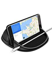Besiva Car Cell Phone Holder, Smartphone Holder for Car Auto Nonslip Dashboard, Car Holder for iPhone Samsung Galaxy/Huawei/One Plus/Sony Xperia/GPS Devices