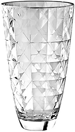 Barski European Glass Designed Vase, 12 H, Made in Europe