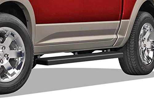 APS iBoard (Black 5 inches) 304 Stainless Steel Running Boards | Nerf Bars | Side Steps | Step Rails Compatible with 2009-2018 Ram 1500 Crew Cab Pickup 4Dr & 2010-2019 ()