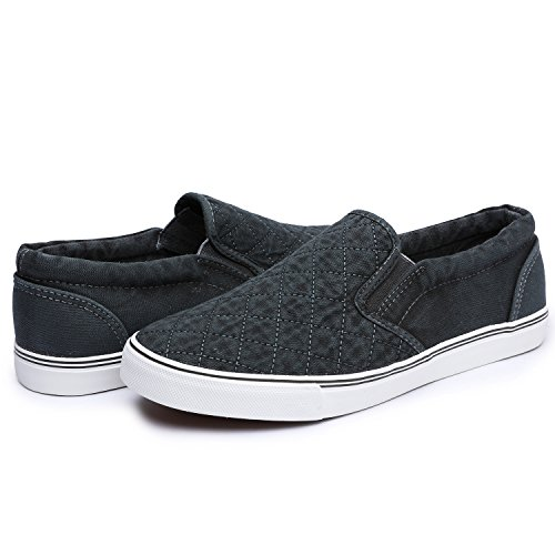 Odema Mens Driving Casual Slip On Loafers Canvas Shoes Fashion Sneakers 1-gray Cr4O7DoqGL