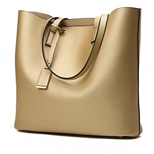 Firstider Woman Shoulder Handbags Women Bags Designer PU Totes Women Mujer Bolsas Gold 34cm