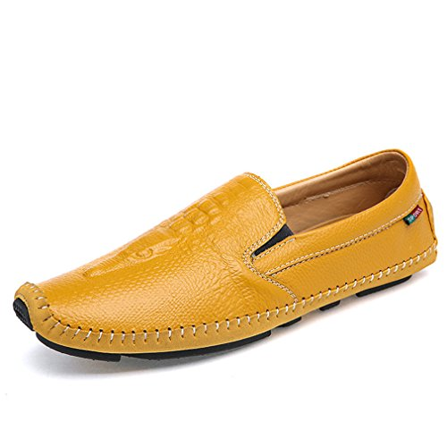 Buty casual da Brief Mocassini piatti uomo Lumino da guida Uomo On Shoes Mocassini Men gialli estivi aYXqxP