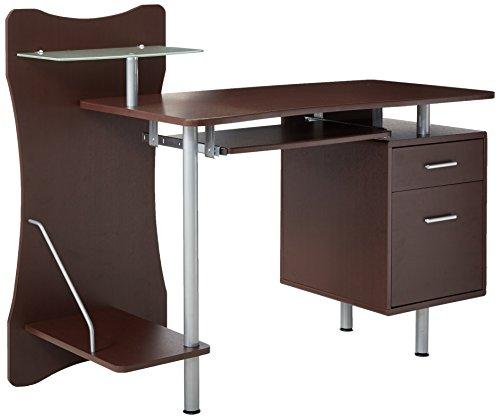 Techni Mobili Stylish Computer Desk with Storage, Chocolate RTA PRODUCTS,LLC
