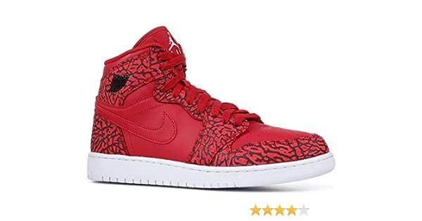 best authentic e5d41 c75f1 Amazon.com  Nike Jordan Kids Air Jordan 1 Retro Hi Prem BG Basketball Shoe  ~ Team Red White (4.5)  Jordan  Sports   Outdoors