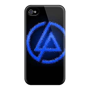 Protective Cell-phone Hard Covers For Iphone 4/4s With Provide Private Custom HD Linkin Park Pattern LauraFuchs