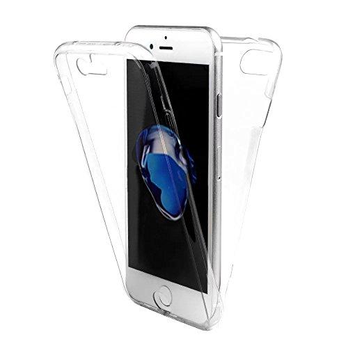Sunroyal iPhone 5 SE 5S Funda   Carcasa Protectora 360 Grados Full Body   TPU en Transparente Ultra Slim Case Cover   Protección Completa Doble Cocha Smartphone Móvil Accesorio Sleeve [Resistente a lo A-02