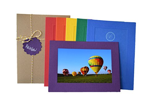 (Rainbow Collection - 4x6 Photo Insert Note Cards - 24 Pack by Plymouth Cards)