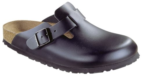 Birkenstock Boston Leather Clogs,Black Leather,44 N EU by Birkenstock