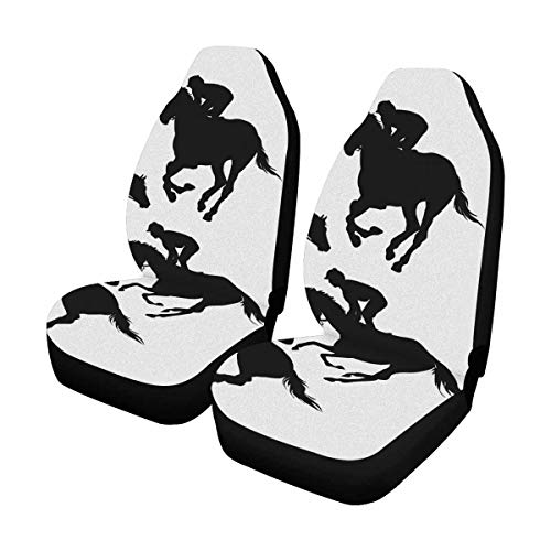 Racing Auto Seat Covers Full Set of 2, Vehicle Seat Protector Car Mat Covers, Fit Most Vehicle, Cars, Sedan, Truck, SUV, Van ()