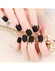 Amazon Com Gold False Nails False Nails Accessories Beauty