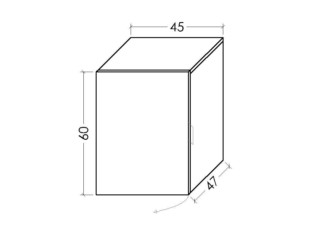45 x 32 x 45 cm LOWE Muebles Uno M/ódulo Armario combinable Blanco Madera