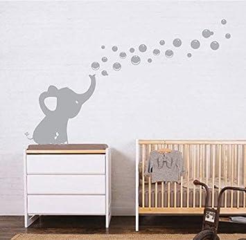 Sayala Wandtattoo 1 Elefanten Bubbles Wandsticker Wandaufkleber Kinderzimmer Zoo Tiere Wandsticker Wandbordure Kinderzimmer Babyzimmer Mit Elefant Grau Amazon De Baby