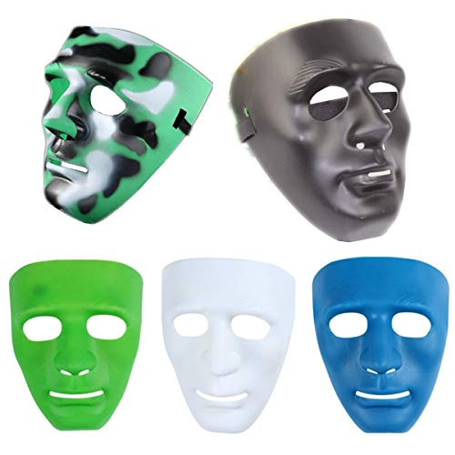 the love 5-Packed (5 Colors Mixing) Halloween Costume Mask Hip-hop Dance Mask for Men by the love