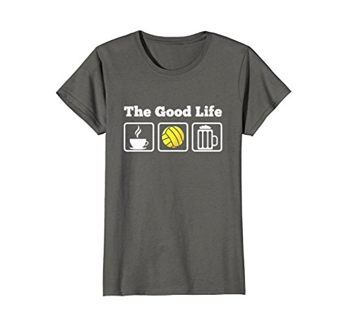 Womens The Good Life! Coffee, Volleyball and Beer T-Shirt Medium Asphalt