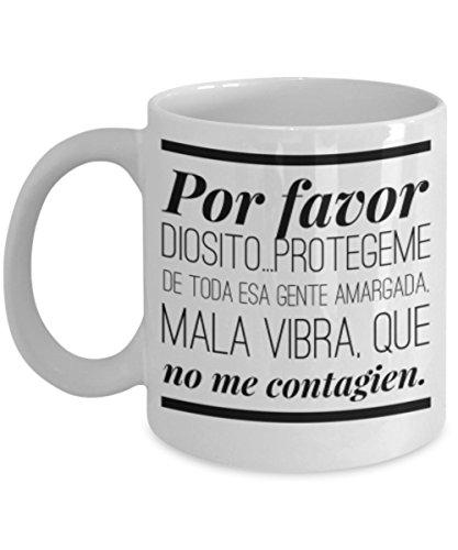 POR FAVOR DIOSITO | AFIRMACIONES Taza cafe, tazas para caf divertidas, tazas de caf personalizadas, taza de caf inspiradoras, taza grande de cafe ENVIO GRATUITO