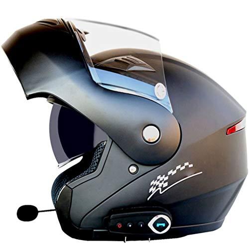 ABDOMINAL WHEEL Klapphelm Integralhelm Helm Motorradhelm Mit Bluetooth-Headset Doppelvisier Full face Motorrad Helm ECE…