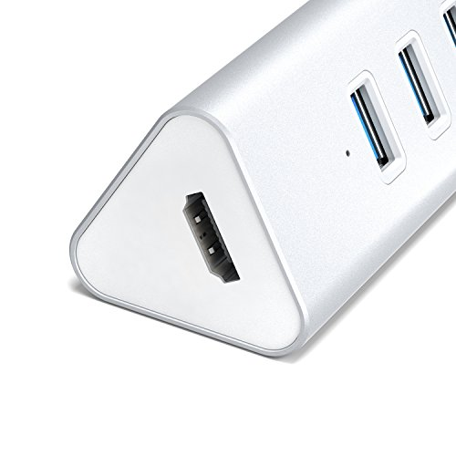 AUKEY USB-C Hub with HDMI and 4 USB 3.0 Data Transfer ...