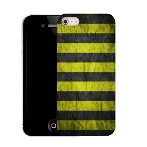 Mobile Case Mate IPhone 4s clip on Silicone Coque couverture case cover Pare-chocs + STYLET - yellow groove pattern (SILICON)