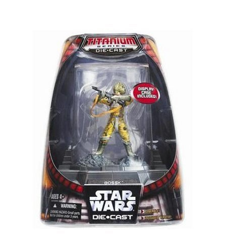 Star Wars Titanium Series Painted Figure - Bossk with Display Case