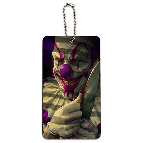 Mischief the Evil Purple Clown Wood Luggage Card