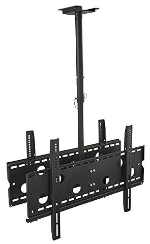 Mount-It! MI-502B Dual Screen Rotating and Tilting Ceiling Mount for Samsung, Sony, LG, Sharp,Vizio, Haier, Toshiba, Sharp, Element,Westinghouse, 4K, 32, 40, 42, 48, 50, 55, 60, 65, 70, 75 Inch TVs