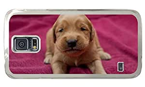 Hipster crazy Samsung Galaxy S5 Cases golden retriever puppy PC Transparent for Samsung S5 by runtopwell