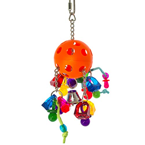 Birds LOVE Bird Toy Pull Ball of Jewels Binkies Paper Rope for Conures African Greys and All Medium Sized Parrots