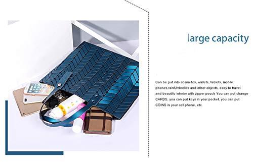 Borse Piegante Tracolla Dell'onda Luminose Black Paillettes Di Della Del Acqua Laser Borsa A Pianura Geometriche Delle Pieganti 8rqSw84