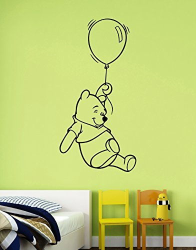 Winnie The Pooh Vinyl Decal Wall Sticker Disney Cartoon Art Decorations for Home Kids Boys Room Bedroom Nursery Decor wtpo3