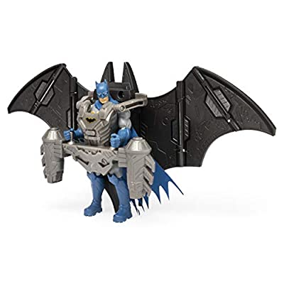 BATMAN, 4-Inch Mega Gear Deluxe Action Figure with Transforming Armor: Toys & Games