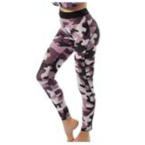 HYHAN pantalones de yoga pantalones de cintura alta deportivos transpirable de color de impresión de dos colores 2