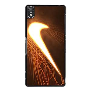 Glowing Shining Nike Cover Phone Case for Sony Xperia Z3 Brand Logo Series Custom Cover Case the Logo of Nike