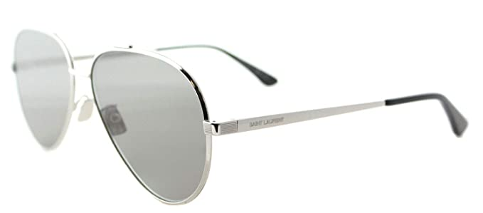288164895b6 Image Unavailable. Image not available for. Color  Saint Laurent CLASSIC 11  ZERO- 001 SILVER   GREY   SILVER Sunglasses