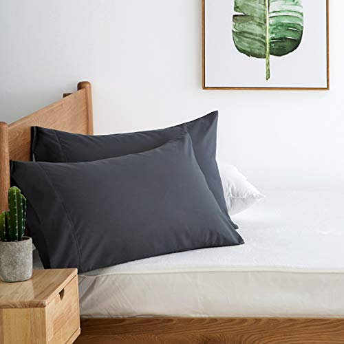 Bedsure Grey Pillowcase Set - Queen Size (20 x 30 inches) Bed Pillow Cover - Brushed Microfiber, Wrinkle, Fade & Stain Resistant - Envelop Closure Pillow Case Set of 2