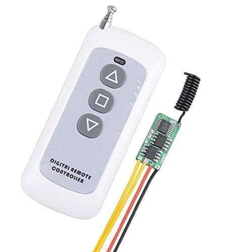 12V Remote Control Switch for Motor, 433Mhz RF Wireless Remote Switch Motor Controller Power Saving 6MA, Motor Forwards Reverse Stop DC3V 3.7V 4.2V 4.5V 5V 6V 7.4V 9V 12V